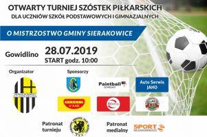 Otwarty Turniej Szóstek Piłkarskich o Mistrzostwo Gminy Sierakowice w niedzielę w Gowidlinie
