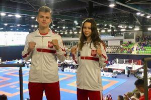 Armin Wilczewski w finale Mistrzostw Europy w Kick - Boxingu w Gyor. Nikola Zaborowska bez medalu