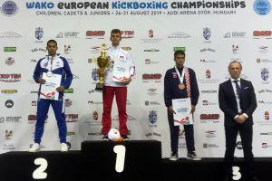 Armin Wilczewski mistrzem Europy kadetów w kiick - boxingu 2019. W finale pewnie pokonał Greka
