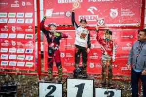 Dawid Zaremba na podium sezonu Mistrzostw Polski w Motocrossie
