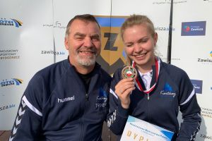 Diana Malotka - Trzebiatowska na podium Młodzieżowych Mistrzostw Polski w Strzelectwie