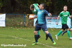 Amator Kiełpino - GKS Sierakowice. Dużo goli, karnych i czerwonych kartek w derbach na szczycie A klasy