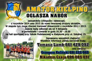 Amator Kiełpino tworzy nowy zespół skrzatów. Trwa nabór zawodników roczników 2014 i 2015