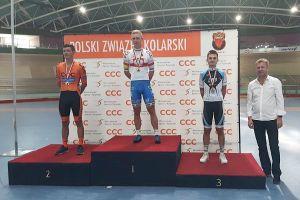 Damian Sławek z Cartusii Kartuzy brązowym medalistą wyścigu eliminacyjnego torowych mistrzostw Polski elity