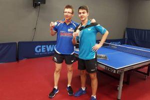Krystian Kreft na podium Mistrzostw Europy w Ping Pongu