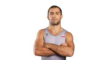 Gevorg Sahakyan na podium turnieju zapaśniczego Thor Masters w Dani