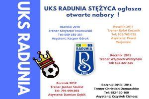 Trwają nabory młodych piłkarzy do Uczniowskiego Klubu Sportowego Radunia Stężyca