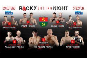 Gala Rocky Boxing Night w Stężycy - jakie walki i gdzie można obejrzeć?