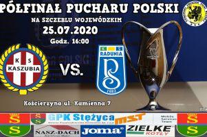 Radunia Stężyca gra w sobotę z Kaszubią Kościerzyna w półfinale Pucharu Polski