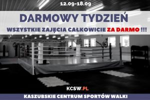 Darmowy tydzień w Kaszubskim Centrum Sportów Walki. Bezpłatne wejścia na zajęcia do 18 września