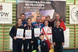 Złota Dominika Konkel, srebrna Aurealia Godzińska na Mistrzostwach Polski Młodziczek w Zapasach