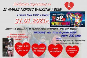 W niedzielę marsz nordic walking i bieg z okazji WOŚP w Stężycy