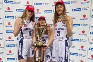 Agata Makurat i Agata Gilmajster zdobyły Młodzieżowy Pucharu Polski w Koszykówce Kobiet