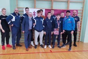 Olivier Dobka na podium II Puchar Polski Kadetów w Zapasach w Raciborzu