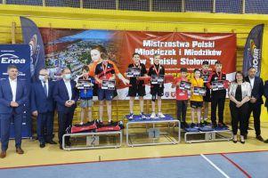 Samuel Michna ze srebrnym medalem Mistrzostw Polski Młodzików w Tenisie Stołowym