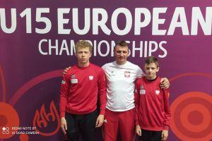 Oskar Leonarczyk i Igor Dąbrowski walczyli w Mistrzostwach Europy w Zapasach U15