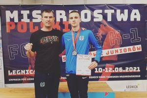 Kacper Śleszyński z Rebelii Kartuzy wicemistrzem Polski K1 juniorów
