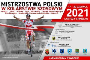 Mistrzostwa Polski w Kolarstwie Szosowym 2021 już od czwartku w Kartuzach i Chmielnie