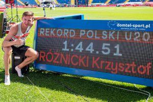 Krzysztof Różnicki z minimum na igrzyska olimpijskie i rekordem Polski U20