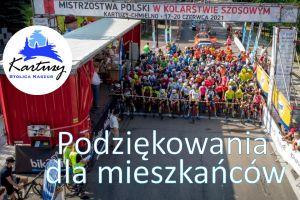 Podziękowania burmistrza dla mieszkańców po Mistrzostwach Polski w Kolarstwie Szosowym