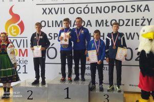 Oskar Leonarczyk i Oliwier Dobka na podium Ogólnopolskiej Olimpiady Młodzieży