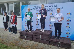 Magda Malotka -Trzebiatowska na podium Mistrzostw Polski w Strzelectwie Sportowym