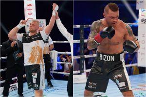 Kacper Meyna i Artur Bizewski zwycięzcy na gali Rocky Boxing Night 10 w Kościerzynie