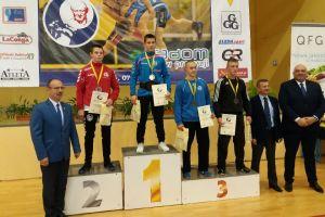 Aleksander Mielewczyk, Nikodem Drewa i Mateusz Hirsz na podium II Pucharu Polski Kadetów w Zapasach w Radomiu 2016