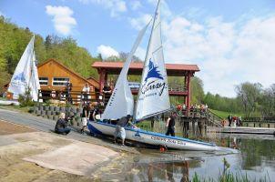 Otwarcie sezonu żeglarskiego 2016 w CSWiPR na Złotej Górze. W sobotę regaty i sprzęt kajakowy, w niedzielę treningi