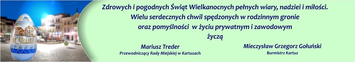 Gmina Kartuzy życzenia wielkanoc 2019