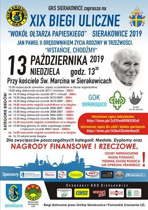 Biegi Papieskie Sierakowice 2019